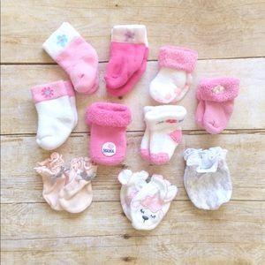 Other - Newborn socks and mittens bundle
